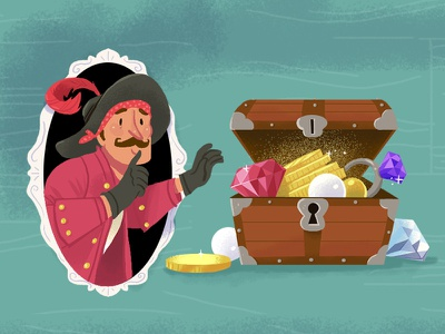 Li'l Pirate character treasure gold pirate