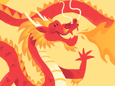 Chinese Dragon fire chinese dragon