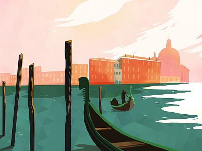 Venice illustration landscape venice