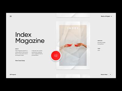 Agency Slider homepage agency branding slider grid white black minimal layout typography web