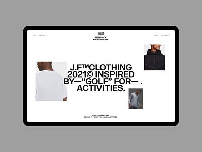 Johnny Fairways grid clean whitespace fashion minimal layout typography web