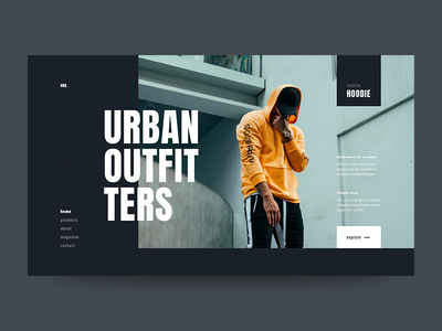 Urban Outfitters fashion typography ui web