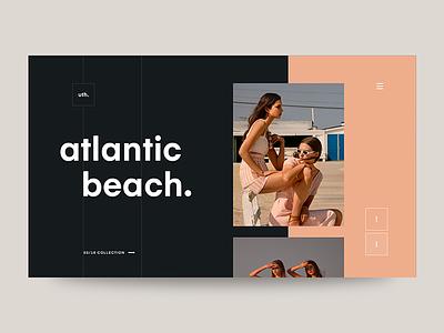 Atlantic Beach fashion typography ui web