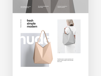 Product Overview product landing fashion typography layout