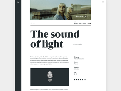 The Sound Of Light video story overview movie blog web typography