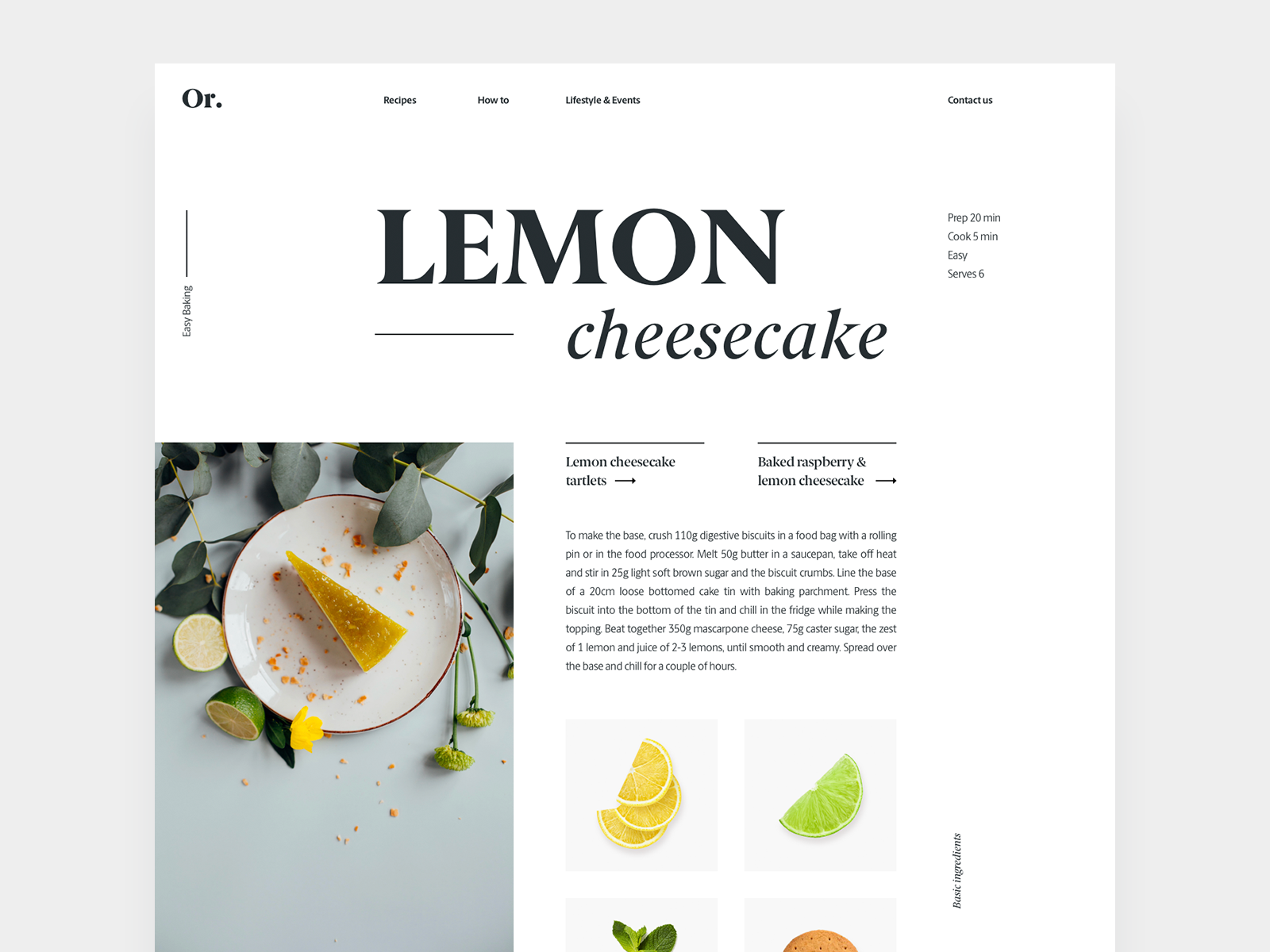 recipe layout by marijana grbovic dribbble dribbble