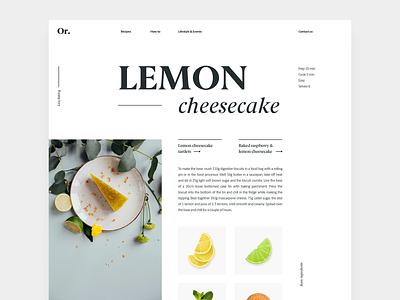 Recipe Layout layout typography web
