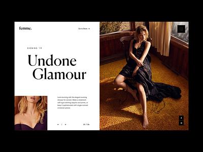 Fashion Slider minimal photograhy white whitespace typo website home grid black typography slider fashion design web