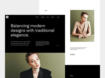 G - Homepage homepage layout fashion minimal white black typography