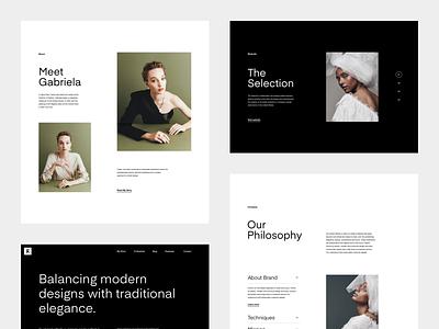 G - About homepage typography grid slider layout minimal white black fashion web
