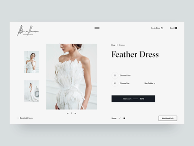 Mihano Momosa Product Page whitespace website typography design typo photograhy product video grid animation fashion slider layout minimal white black web