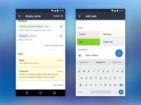 Clickhook Android screens