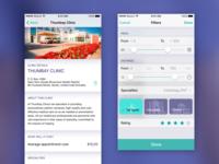 Techmed iOS screens