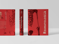 Rheumatology Handbook Cover print handbook university skeleton engraved illustration red book cover cover book