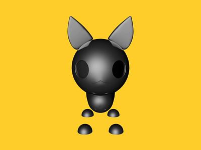 Sinister Cat motion render typography design concept illustration minimalism digital luck 3d c4d cat