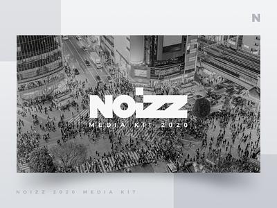 Noizz 2020 Media Kit 1 of 12 presentation layout media kit white black ui design branding minimalism typography concept digital