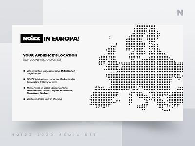Noizz 2020 Media Kit 6 of 12 presentation layout white black media kit branding minimalism ui typography design concept illustration digital