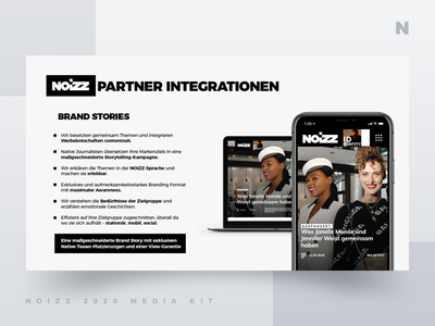 Noizz 2020 Media Kit 8 of 12 presentation layout white black media kit branding minimalism ui typography design concept illustration digital