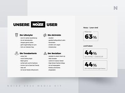 Noizz 2020 Media Kit 10 of 12 presentation layout white black media kit branding minimalism ui typography design concept illustration digital