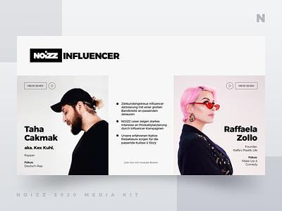 Noizz 2020 Media Kit 11 of 12 presentation layout media kit white black branding minimalism ui typography design concept illustration digital