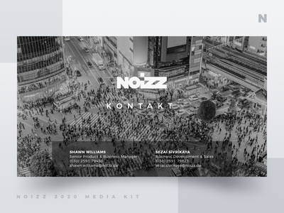 Noizz 2020 Media Kit 12 of 12 presentation layout media kit white black branding minimalism ui typography design concept illustration digital