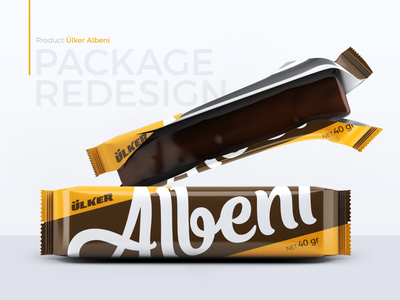 Albeni Package Redesign concept brown yellow minimalism redesign chocolate bar package design branding chocolate packaging