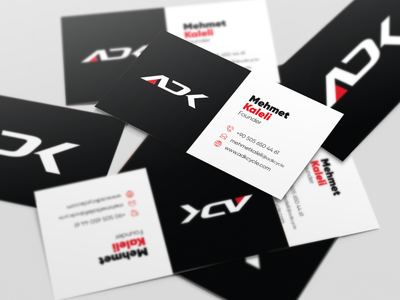 ADK Business Card branding print design typography minimalism concept business card