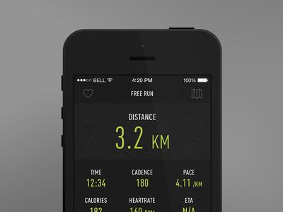 iOS7 Running App