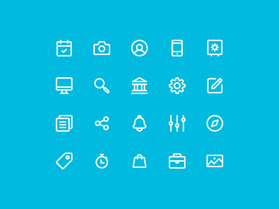 Affirm Iconography (Second Pass) android ios app mobile finance suite set stroke line iconography icons icon