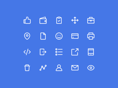 Affirm Iconography (Part 2) android ios app mobile finance suite set stroke line iconography icons icon