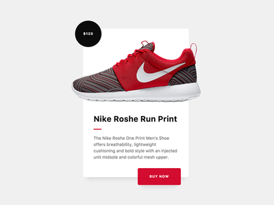 Product Card (Rebound) commerce shoe nike shadow buy card product app shop