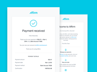 Affirm Emails responsive mobile template icon ui reminder receipt transactional email