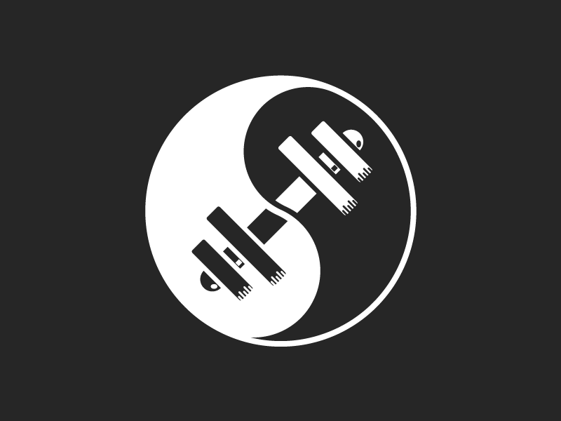 Yin And Yang Fitness Logo By Ash Guillaume Dribbble