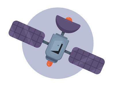 Satellite revisted space illustration vector satellite