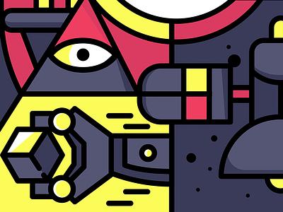 WIP vector pattern eye space robot