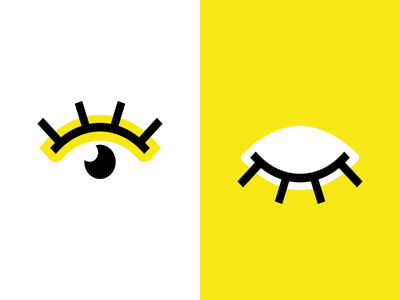 Eye-cons yellow simple vector icon eye