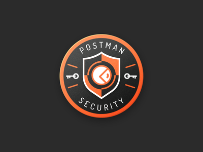 Security Badge postman illustrator security pin badge