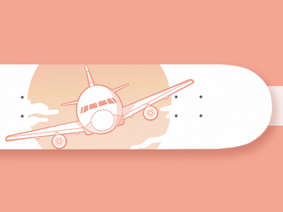 Plane Skateboard clouds sky skate skateboard airplane plane