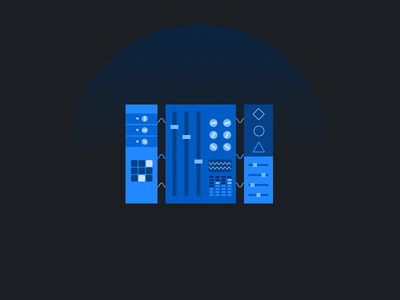 Something blue components blue figma illustration vector