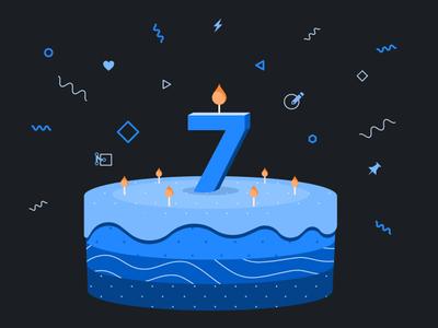 Happy birthday GitHub Primer! birthday illustration primer