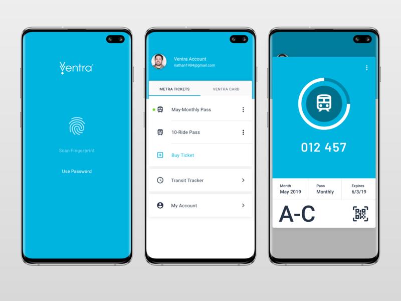 Ventra App Redesign Concept mobile materialdesign material ui mobile app design mobile ui ui redesign concept uiux uxdesign