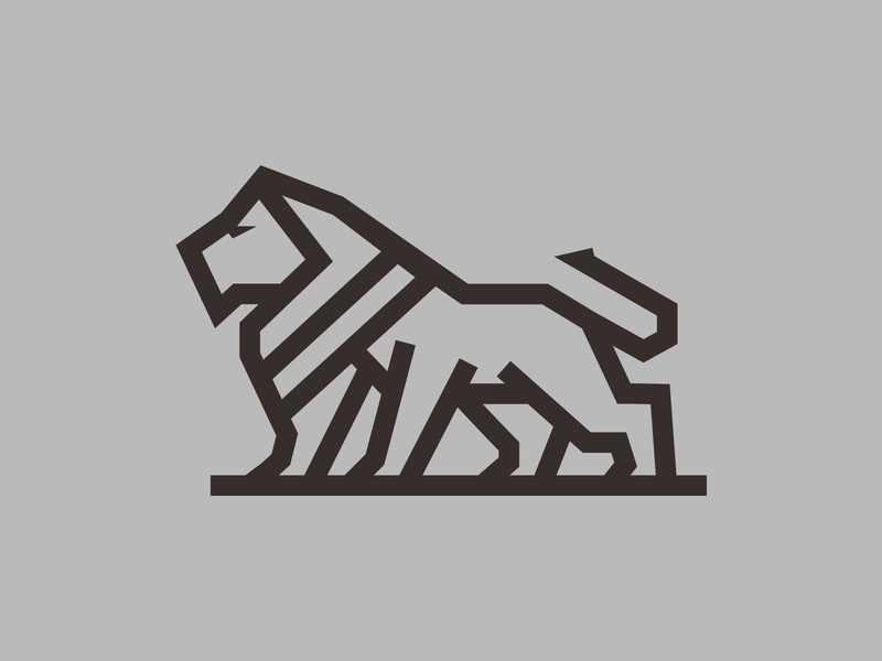 On The Prowl animal logo animals lions lion logo lion branding animal logo