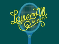 Tennis Graphics Love All Chris Leson