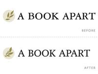 A Book Apart logo redux, in progress