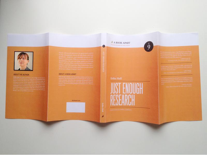 A Book Apart cover redux, paper prototype orange white black