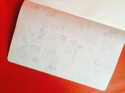 Sketching initials jasonsantamaria sketch pencil