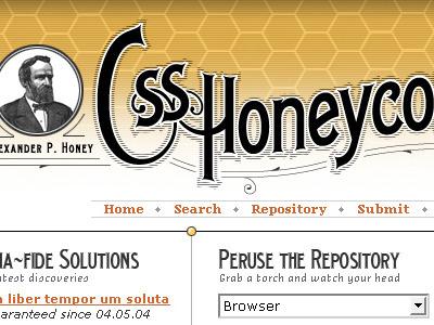 CSS Honeycomb unused yellow orange black white designthrowback
