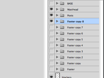 Footers grey photoshop