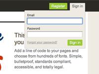 New Typekit Sign in
