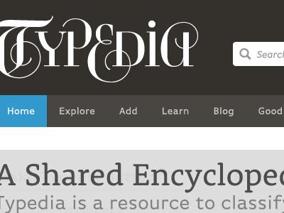 Typedia Redux typed brown white blue